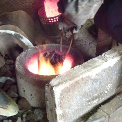 銑鉄の溶かしこみ