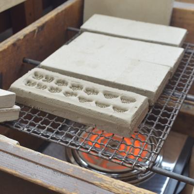 鋳物焼印表型製造の様子