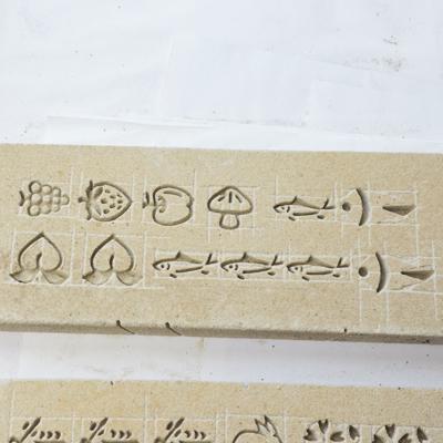 鋳物焼印表型の仕上がり