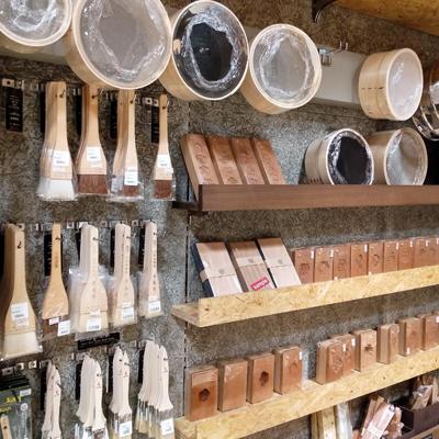 菓子木型や三角押し棒、木枠ふるいなど